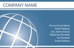 Business Cards Globe