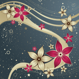 Red Silk Flower Design
