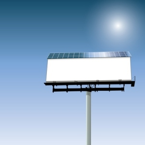 Solar Powered Billboard