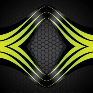 Stripes on Honeycomb Background